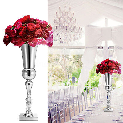 65cm Silver Iron Flower Vase Urn Wedding Banquet Home Party Table Decor