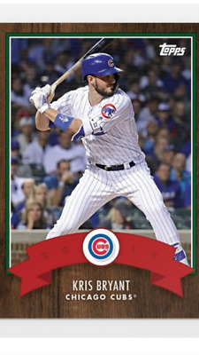 2018 Topps Holiday Advent Calendar Card Chicago Cubs Kris Bryant #14