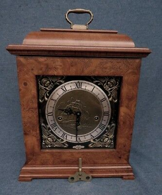 Wuersch Franz Hermle Triple Chime Key Wind Carriage Clock 1050-020 Runs! Chimes!