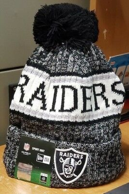 7505605acb8 OAKLAND RAIDERS NFL New Era Sideline Official Sports Knit Hat Beanie ...
