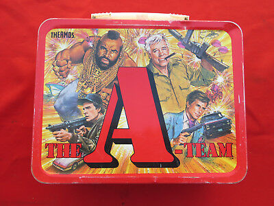 Vintage THE A-TEAM Metal Thermos Brand Lunch Box Steven Cannel LOOK 1378