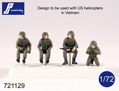1/72 Pj Production Us Helicopter Crew (Vietnam War)