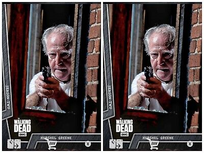 2x HERSHEL BATTLE READY STEEL #3 WAVE 2 Topps WALKING DEAD DIGITAL Card Trader