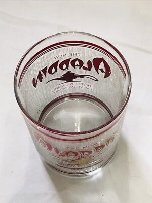 Vintage New Aladdin Casino Cocktail Tumbler Frosted Glass Las Vegas