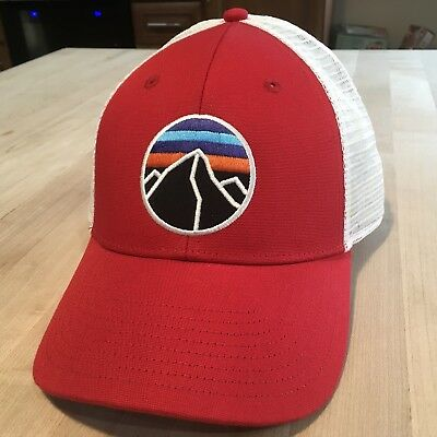 Patagonia Fitz Roy Emblem Trucker Hat - New Without Tags - Red - 2015 962b603e6409
