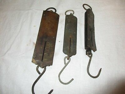 3 vintage Scales - Frary's & John Chatillons, New York, 25 & 50 pound scale