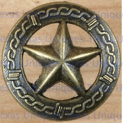 DECORATIVE OLD SILVER STAR W// BARBWIRE TACKS 10 UPHOLSTERY WESTERN CLAVOS