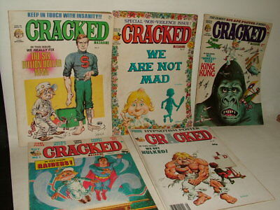 CRACKED VINTAGE MAGAZINES ( LIKE MAD ) EARLY UK Numbers 3 6 7 30 43 JOB LOT 0F 5