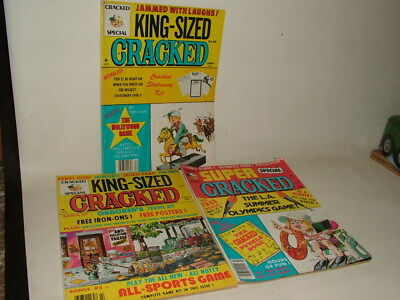 King Sized Cracked Vintage Magazines ( Like Mad ) 1981 - 82 - 84 Job Lot Of 3