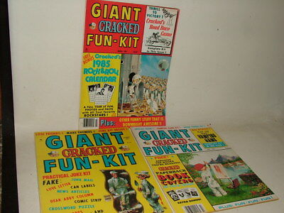 Giant Cracked Fun Kit Vintage Magazines ( Like Mad ) 1982 - 8 5  Job Lot Of 3