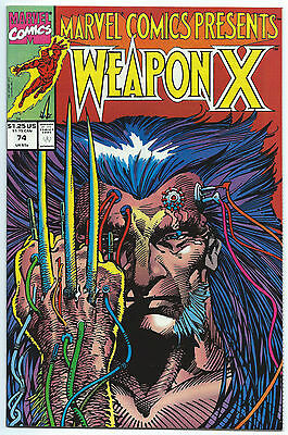 MARVEL COMICS PRESENTS #74 Apr 1991 NM/MT 9.8 WOLVERINE WEAPON-X Barry SMITH Art