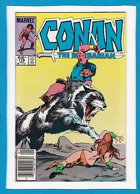 CONAN THE BARBARIAN #178_JANUARY 1986_VERY FINE/NEAR MINT_1st APP OF DEMON WOLF!