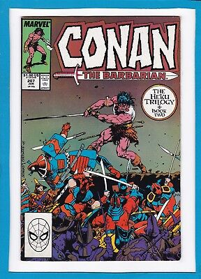 "Conan The Barbarian #207_June 1988_Very Fine+_""heku Book Two: Community""!"