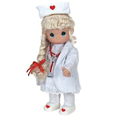 Precious Moments 12 Inch Doll, 'Loving Touch', Nurse Blonde, New In Box, 4279