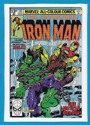 """Invincible Iron Man #132_March 1980_Vf_""""alone Against The Incredible Hulk""""_Uk!"""