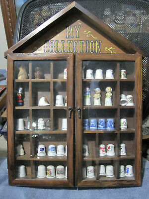 thimble or smalls wall display case  (thimbles in photo are NOT included)