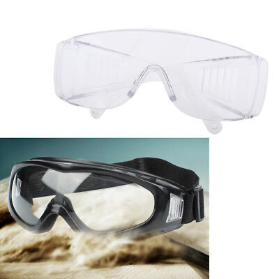 2x/set Working Safety Clear Goggles Glasses Eye Protection Lab Work Anti Fog