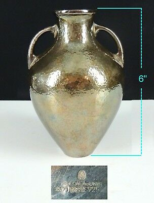 Sterling Silver ILIAS LALAOUNIS Hammered Arts & Crafts Vase-8.025 t oz