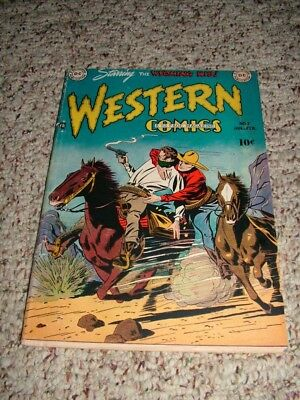 1949 DC WESTERN COMICS #7 WYOMING KID-RODEO RICK  Very Good Condition