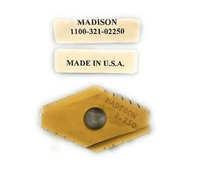 """MADISON CUTTING TOOLS CVD Coat Duodex Spade Indexable Inserts 2.250"""" T-15 HSS"""