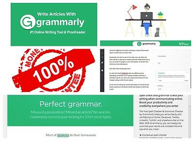 ***DISCOUNTED*** Grammarly Premium1 year +++Account [Quick Delivery]