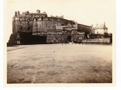 Vintage Postcard of Edinburgh Castle, Real Photograph 1929 with ink pen writing