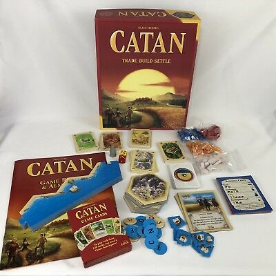 Klaus Teuber's CATAN 2015 Trade Build Settle 5th Edition Board Game Complete