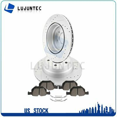 Front Drilled Slotted Brake Rotors Pair 2 For 05-10 Jeep Grand Cherokee 780289