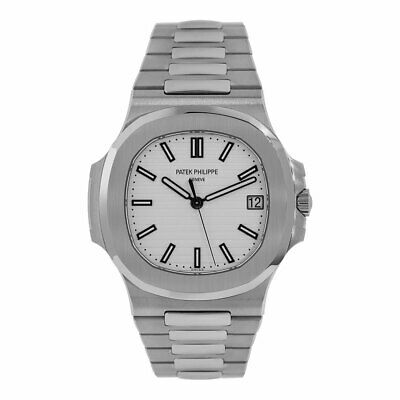 13402a931d2 Patek Philippe Nautilus 40mm Stainless Steel White Dial Watch 5711/1A-011