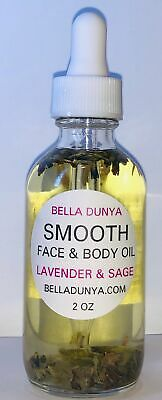 Smooth Body and Face oil Anti-Aging, Skin Care, Moisturizers, 100 % Natural Beau