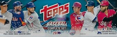 2018 Topps Baseball Complete Set Series 1&2 Trading Cards 700 + 5 Rookie Variant