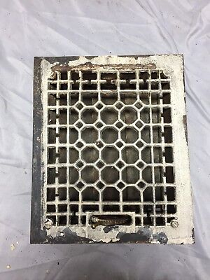 Antique Cast Iron Decorative Heat Grate Floor Register 8X10 Vintage Old 553-18C