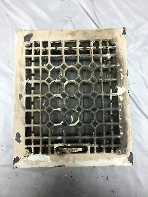 Antique Cast Iron Decorative Heat Grate Floor Register 8X10 Vintage Old 554-18C