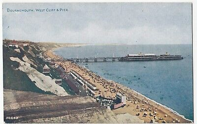Dorset; Bournemouth, West Cliff & Pier PPC By Photochrom, Celesque, Unposted