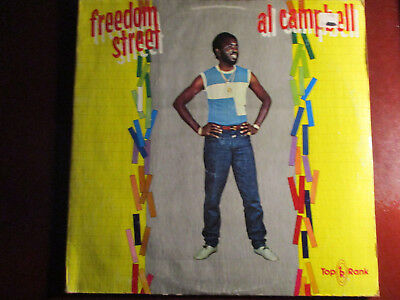 "Reggae Al Campbell ""freedom Street"" Original 1984 Top Rank Jamaican  First Press"