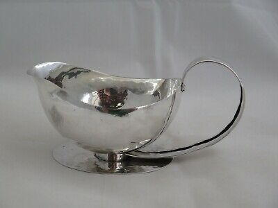Mid-Century Hand Hammered Sterling Silver Gravy Boat