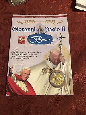 2011 Vatican City Pope John Paul II Beatification Coin And Stamp