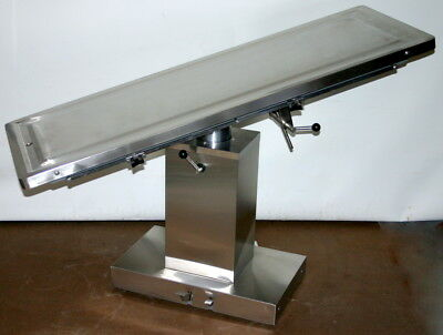 Suburban Surgical Elite Lift / Tilt Veterinary Ss Operating Surgery Table
