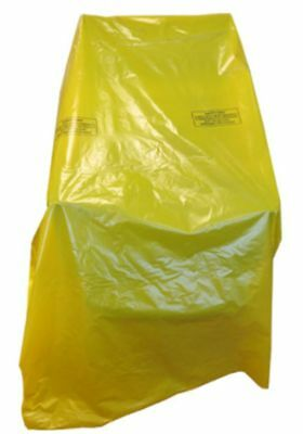 Plastic Furniture Cover For Single Chair / Armchair YELLOW Removal Moving