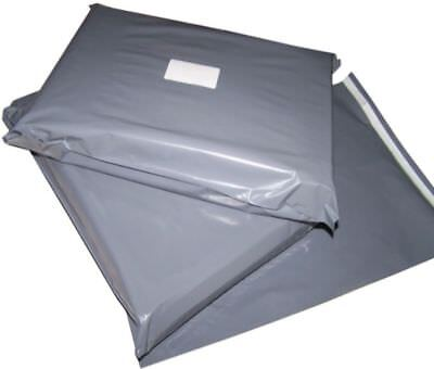 200 LARGE GREY PLASTIC MAILING BAGS ASSORTED MIXED SIZES 12x16 13x19 14x21