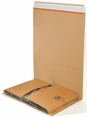 25 x C3 BOOK WRAP BUKWRAP POSTAL BOXES MAILERS 311x240x50mm FREE DELIVERY