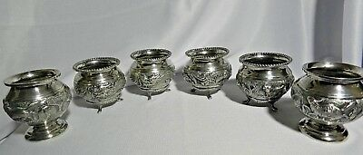 CHINESE STERLING SILVER DRAGON  BOWLS & S. ASIA STERLING SILVER BOWLS  222 Gram'