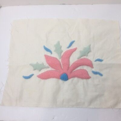 "Abstract Design Pastel Colors Finished Needle Punch Embroidery Pretty 17"" x 14"""