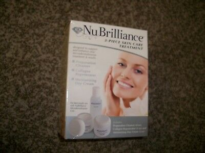 NuBrilliance 3-Piece Skin Care Treatment System NEW !  SEALED CONTAINERS !