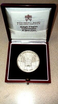 Musei Vaticani Sterling Silver Art Medal Vatican Museums in Box 1992 w paperwork