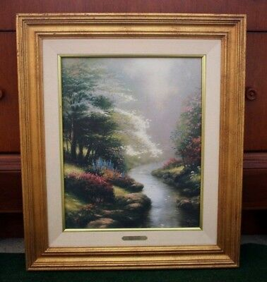 "Thomas Kinkade ""Petals Of Hope"" Signed Numbered Framed Canvas With COA 16 X 20"