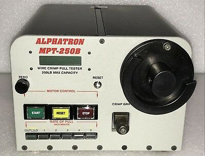 Alphatron MPT-250B Wire Crimp Pull Tester 250 lb. Capacity with Warranty