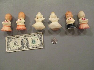 LOT OF 6 Vintage GURLEY ANGEL and CHOIR CANDLES