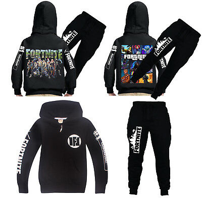 Kids Boys Fortnite Hoodie Sweatshirt Long Pants Set Casual Royale Game Tracksuit