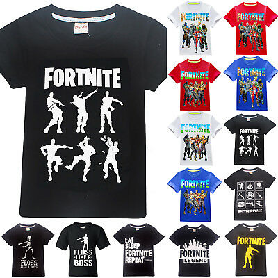 Kids Boys Fortnite Battle Royale Floss Dance T-shirt  Summer Tee Casual Fan Tops